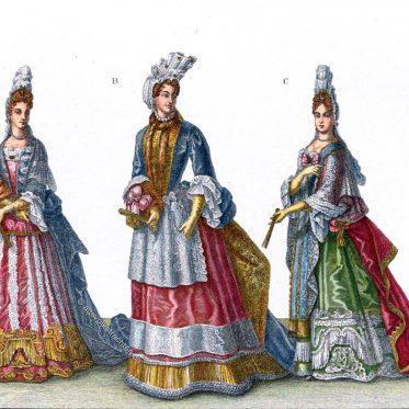 Coiffure à la Fontanges. Haartracht unter Ludwig XIV.