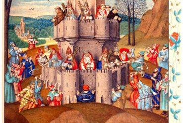 Forteresse, de, la, Foi, middle ages, manuscript, mittelalter, Miniatur, Ketzer