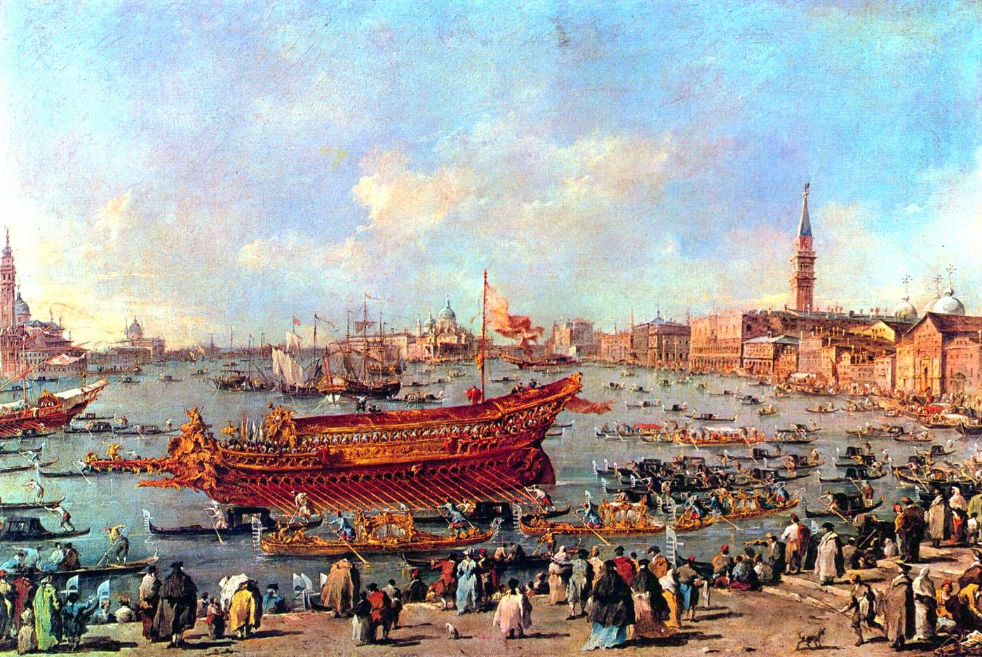 Francesco Guardi, Bucentaur, Doge, Venedig, Italien,