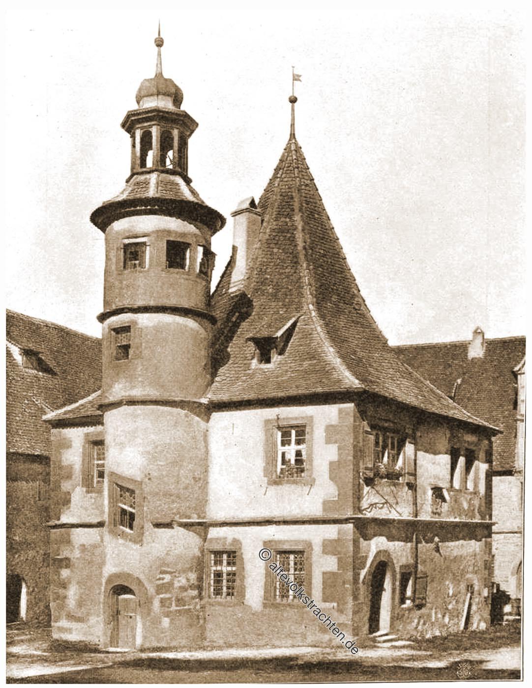 Historische Sehenswürdigkeit, Hegereiterhaus, Architektur, Mittelalter, Rothenburg ob der Tauber