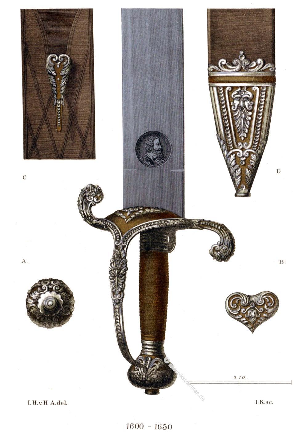 Kriegsschwert, Schwert, Waffe, Maximilian, Bayern, barock, Kurfürst
