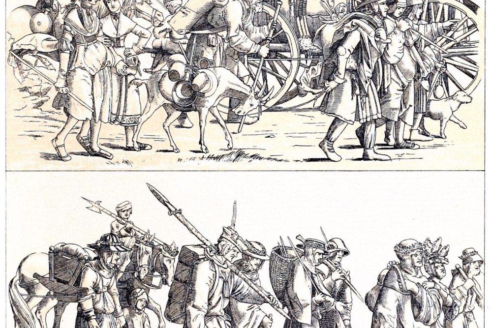 Gewandung, Landsknechtstross, Deutschland, Triumphzug, Kaiser Maximilian, Waibel, Kostüme, Trachten, Renaissance,