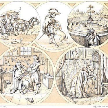 Typen aus der vornehmen, bürgerlichen Welt. Holland 17. Jahrhundert.
