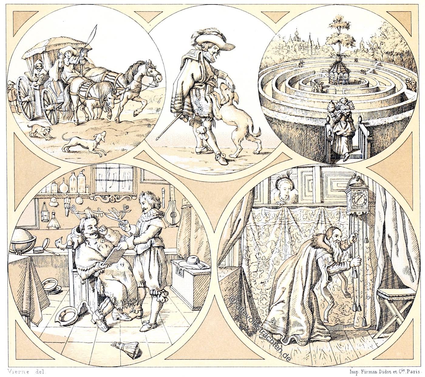 Holland, Niederlande, Barock, Mode, Auguste Racinet,