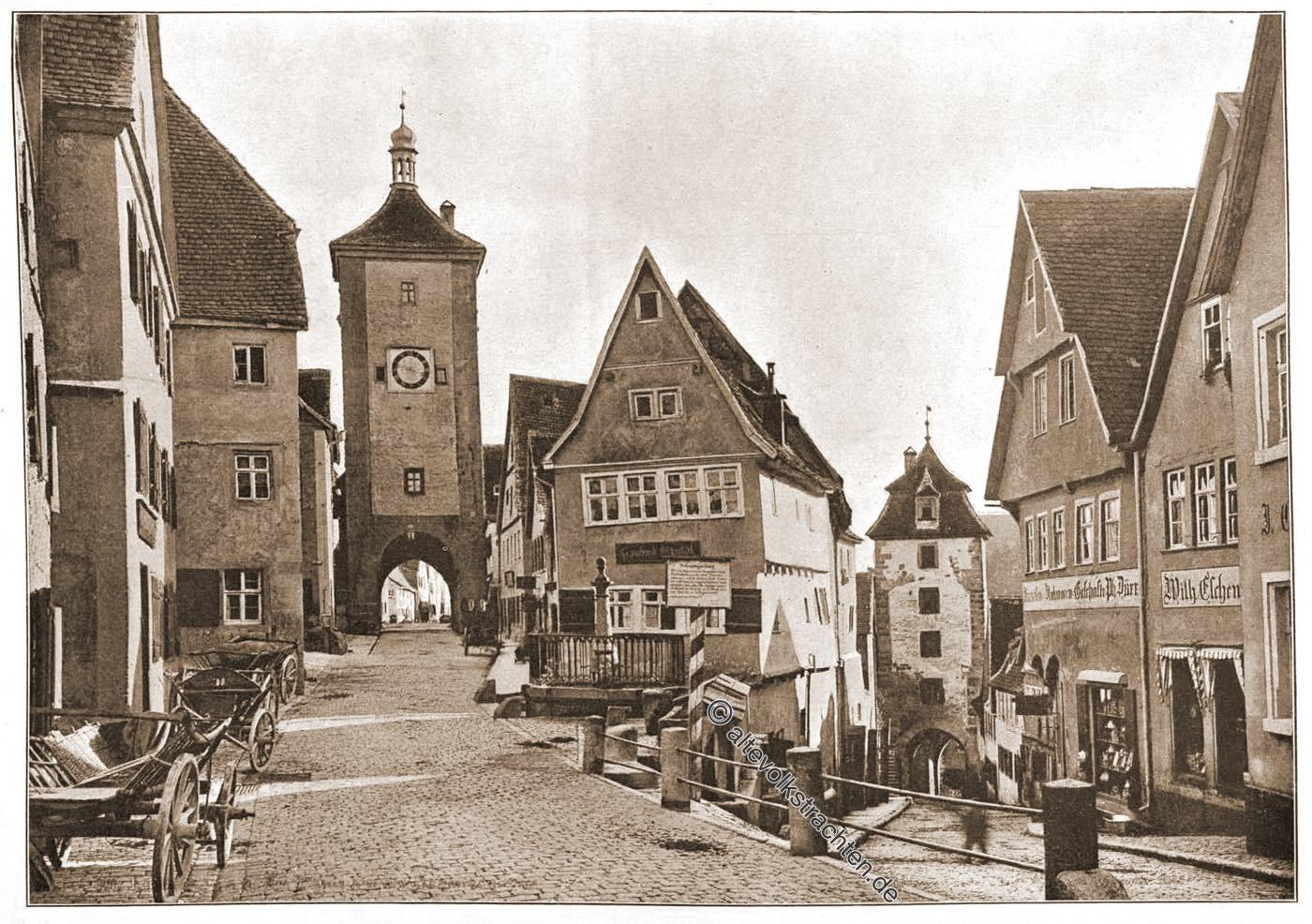Plönlein, Brunnen, Wahrzeichen,   Rothenburg ob der Tauber,