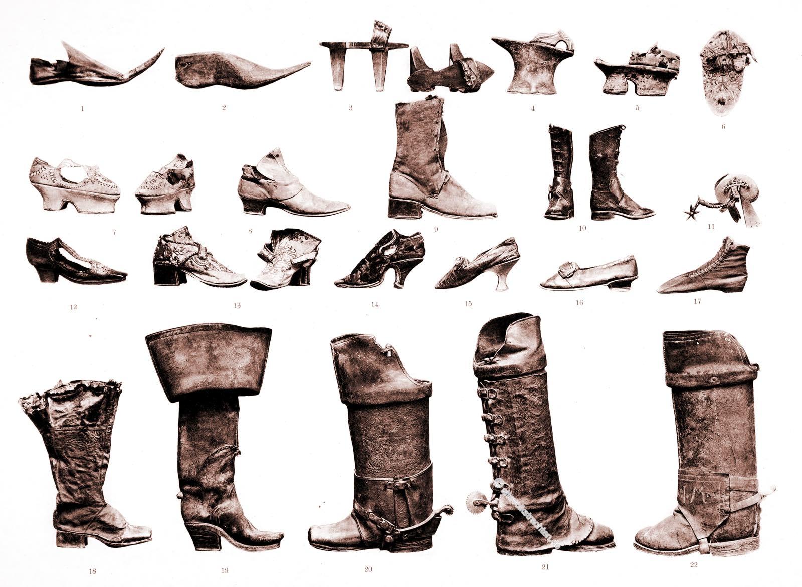Schuhmode, Fussbekleidungen, Mittelalter, Renaissance, Barock, Rokoko,