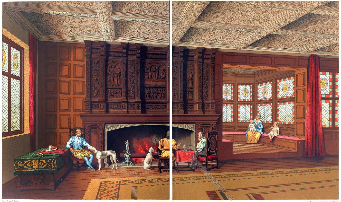 Speke Hall, Tudor, Architekturstil, Innenarchitektur, Elisabethanisch, England, Renaissance.