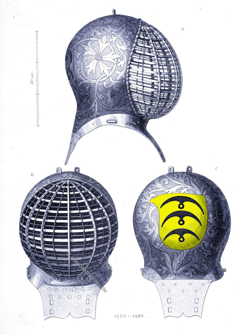 Turnierhelm, Mittelalter, Rüstung, Turnier, Ritter