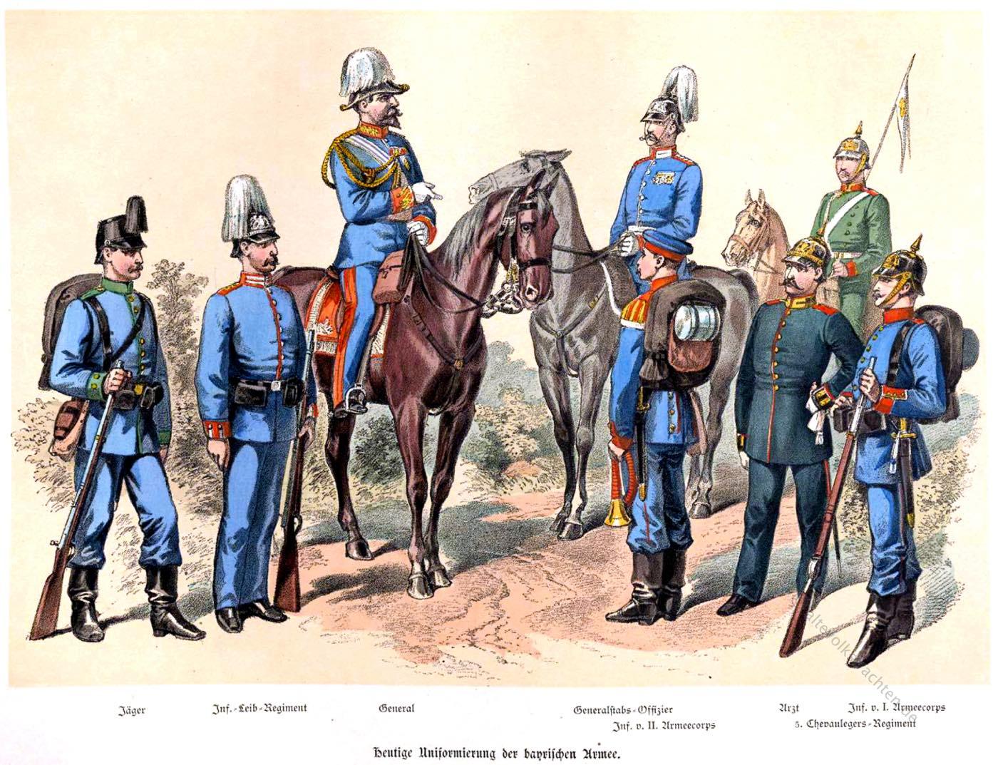Bayern, Königreich, Bayerische Armee, Uniformen, Uniformierung, Militär