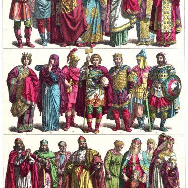 Kostüme des Mittelalters in Italien. 700—1200.