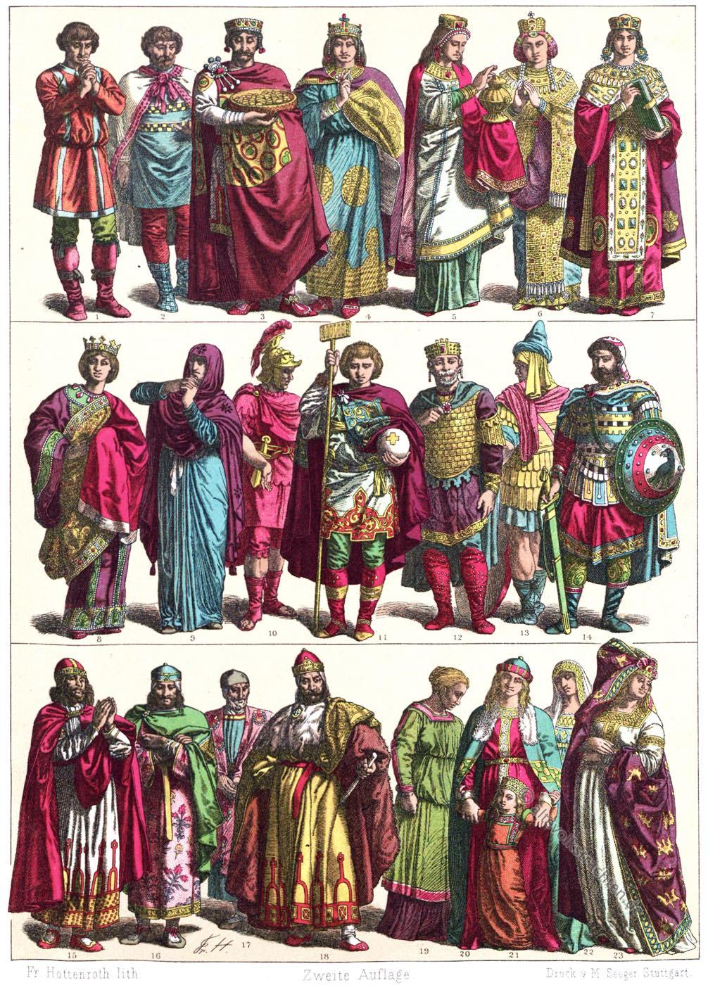Italien, Gewandung, Kaiser, Adel, Krieger, Heerführer