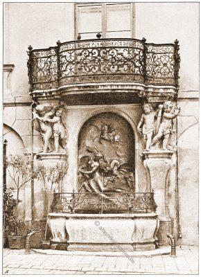 Andromeda-Brunnen, Wien, Brunnen, Österreich, Architektur, Hartwig Fischel,