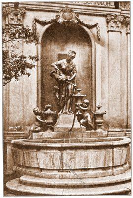Damenstift, Johannesgasse, Wien, Brunnen, Österreich, Architektur, Hartwig Fischel,
