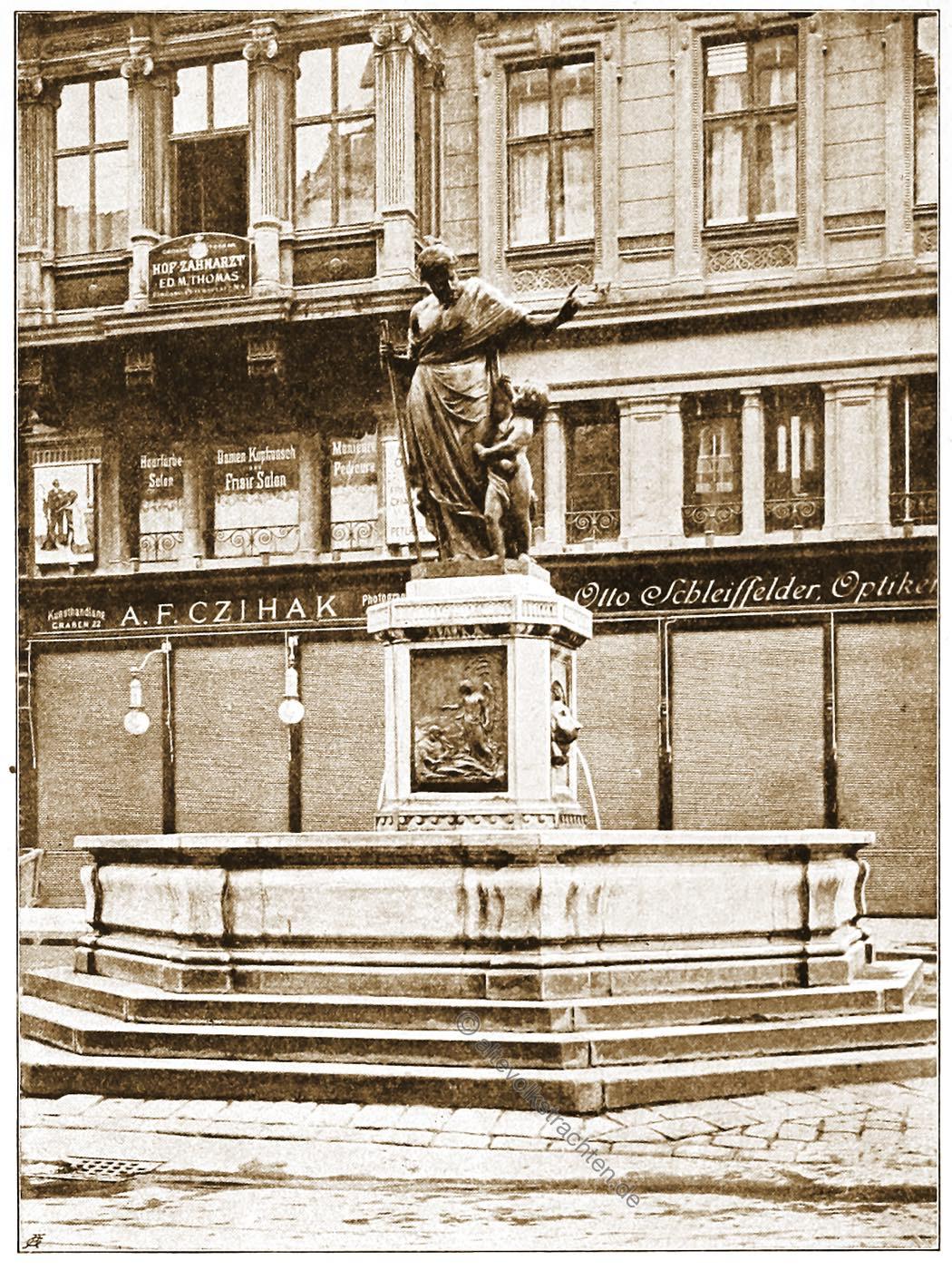 Brunnenfigur, Josef, J. M. Fischer, Wien, Brunnen, Österreich, Architektur, Hartwig Fischel,
