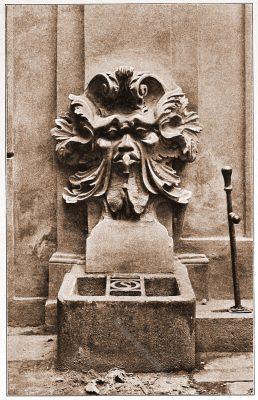 Wandbrunnen, Palais, Kinsky, Wien, Brunnen, Österreich, Architektur, Hartwig Fischel,