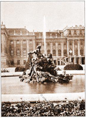 Schloss, Schönbrunn, Wien, Brunnen, Österreich, Architektur, Hartwig Fischel,