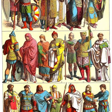 Byzantiner der mittelbyzantinischen Zeit 700-1000.