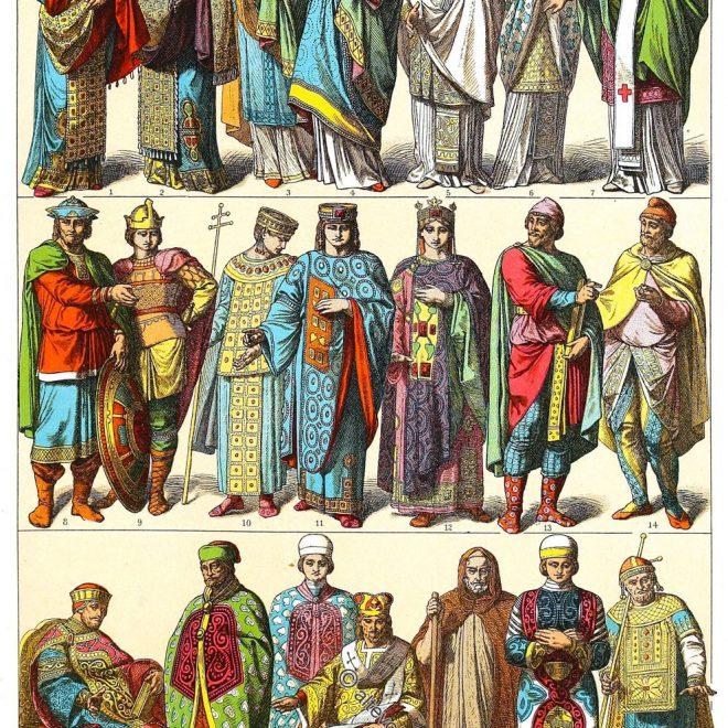 Gewandung, Byzantiner, Ostrom, Oströmisches Reich, Kostümgeschichte, Friedrich Hottenroth