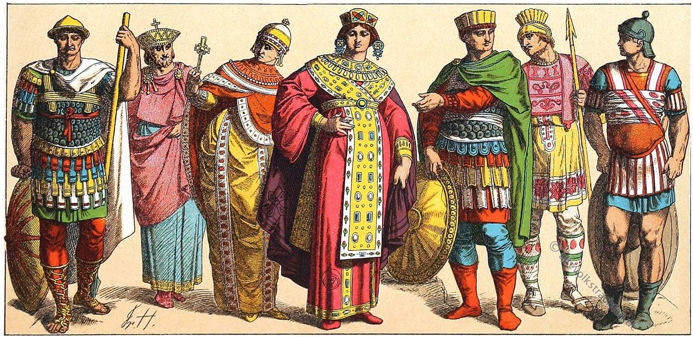 Byzantiner, Byzanz, Kaiser, Kostümgeschichte, Ostrom
