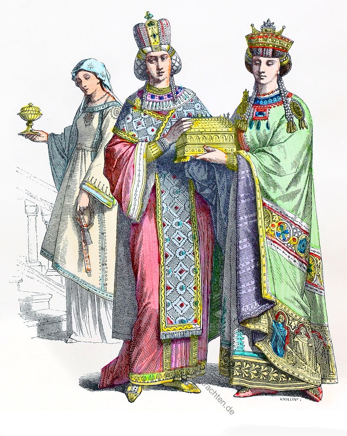 Dienerin, Byzanz, Kaiserin, Prinzessin, Kostüme, Münchener Bilderbogen