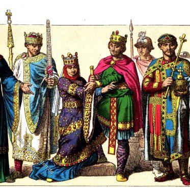 Deutschland. Kostümgeschichte des Mittelalters. 10. bis 13. Jh.