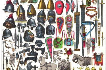 Franzosen, Merowinger, Karolinger, Franken, Normannen, Kostüme, Rüstungen