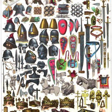 Frankreich. Kostüme, Rüstungen, Waffen und Soldaten vom 5. bis 12. Jh.