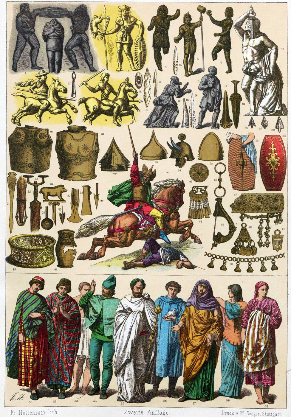 Gallier, Galloromanen, Gewandung, Gallien, Kultur, Kostüme, Waffen, Soldaten