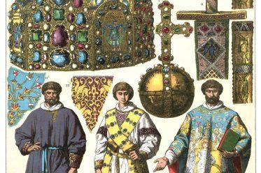 Friedrich Hottenroth, Deutschland, Kaiser, Reichsapfel, Kaiserkrone, Herscherornat, Mittelalter, Ornat,