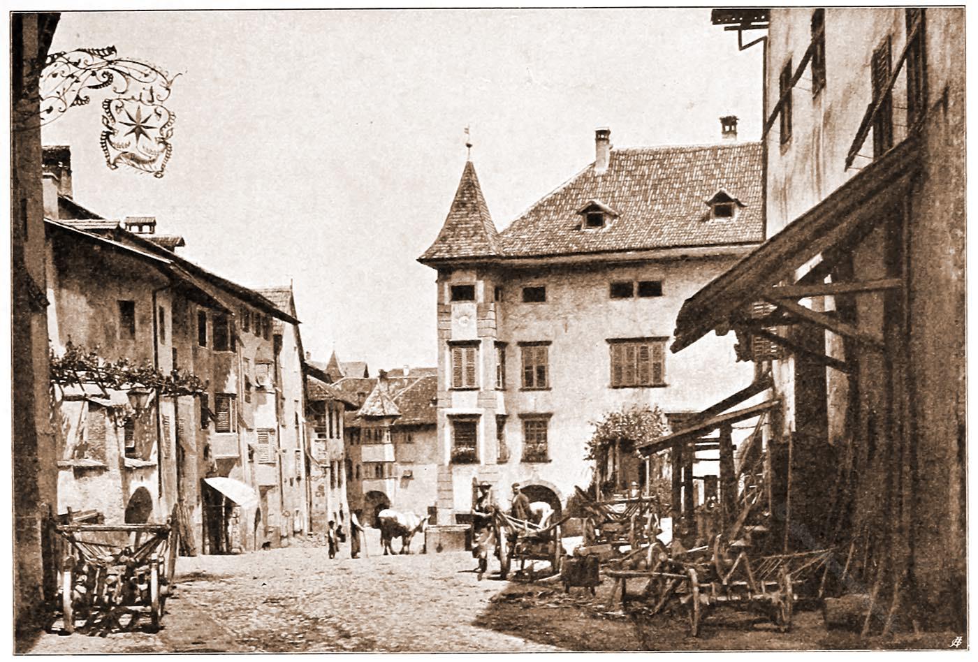 Stadtansicht, Zentrum, Kaltern, Tirol, Architektur, Österreich, Hartwig, Fischel,