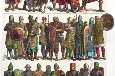 Frankreich, Krieger, Karolinger, Normannen, Kreuzritter, Rüstungen, Waffen, Ritter, Friedrich Hottenroth.