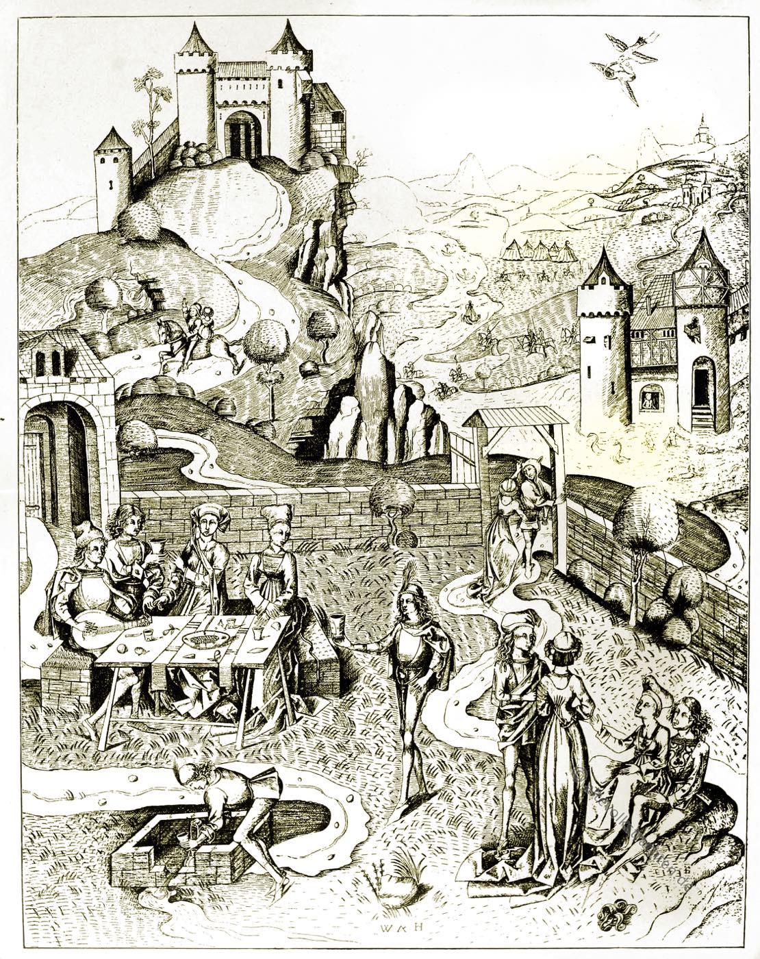 Liebesgarten, Wolf Hammer, Mittelalter, Gartenanlage, Kulturgeschichte