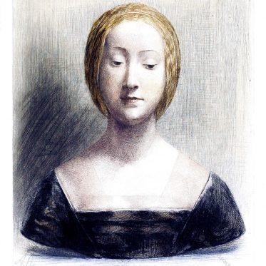 Polychrome Marmorbüste einer jungen Florentinerin. Italien Renaissance.