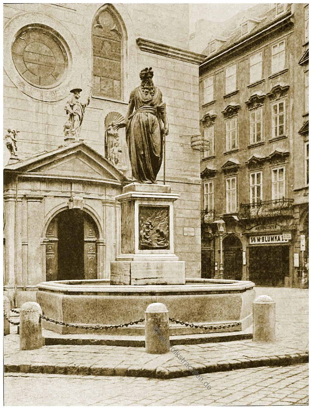Moses-Brunnen, Franziskanerplatz, Wien, Brunnen, Österreich, Architektur, Hartwig Fischel,