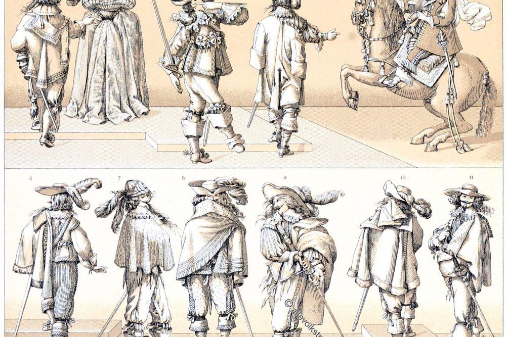 Frankreich Barock, vornehme Stände, Kostüme, Musketiere, Mode,