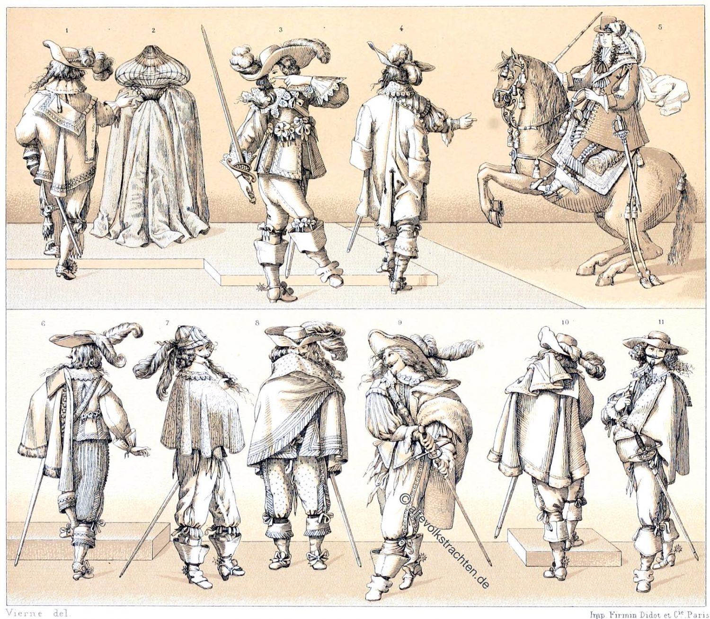 Mantel, balagnie, Frankreich, Barock, vornehme Stände, Kostüme, Musketiere, Mode,