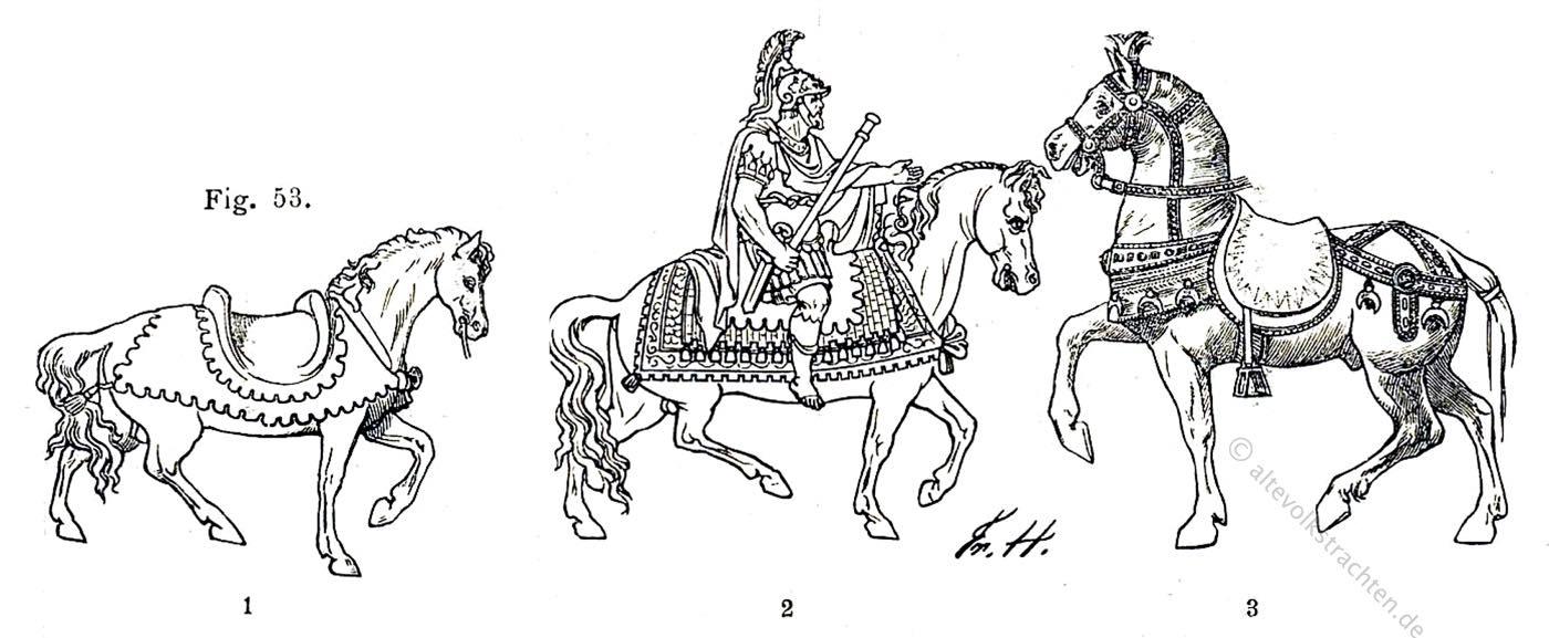 byzanz, sattel, Reitpferd
