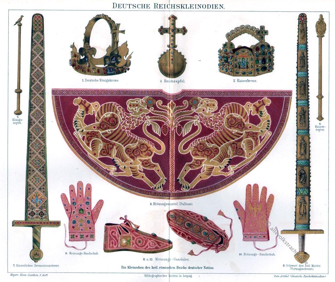 Reichskleinodien, Herrschaftsinsignien, Kaiser, Könige, Heiliges Römisches Reich,