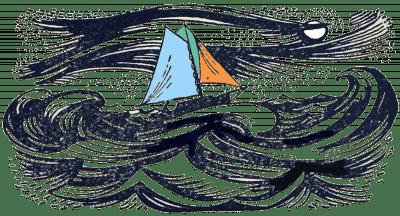 Illustration Segelschiff, Sturm, Meer,