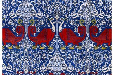 Émile Prisse d'Avennes, Seidenstoff, Gewebe, Textilmuster, arabisch, orientalisch, Sizilien, Mittelalter,