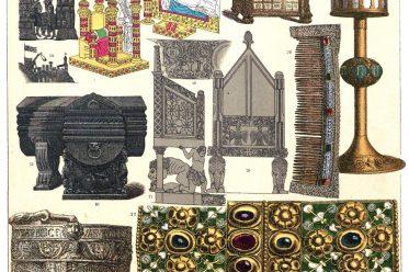 Friedrich Hottenroth, Italien, Spanien, Mittelalter, Gotik, Kunstgewerbe, Militär, Kunstgegenstände,