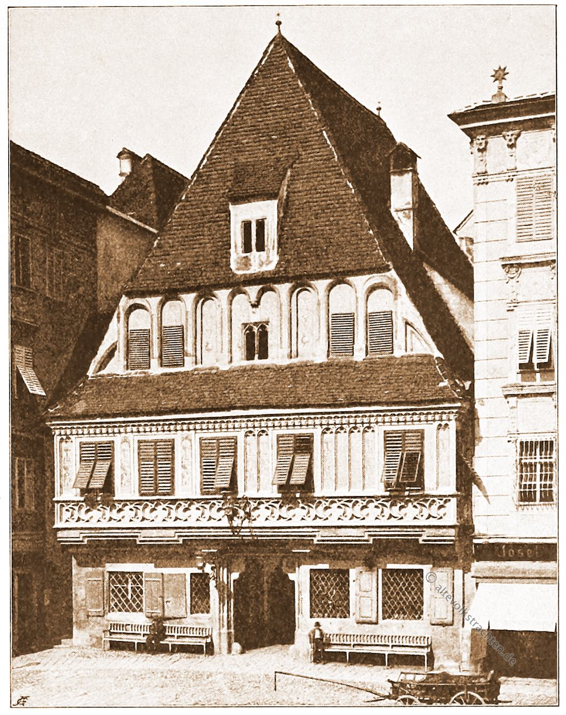 Steyr, Bummerlhaus, Wahrzeichen, Bürgerhaus, Oberösterreich, Wohnhaus, Stadtplatz, Architektur, Österreich, Stadtansicht, Hartwig, Fischel,