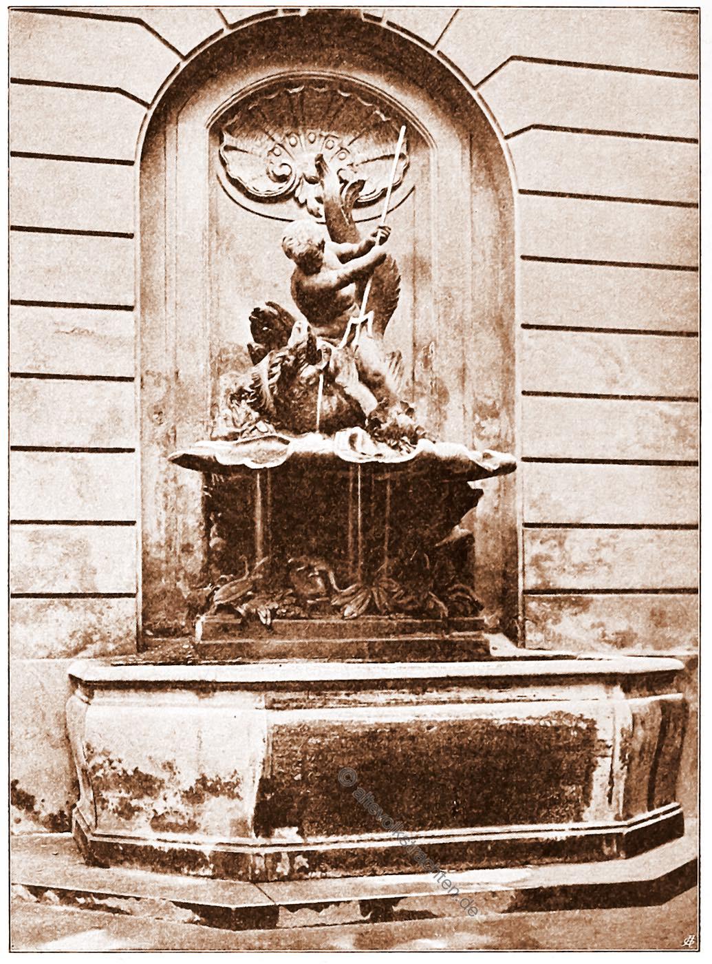 Wandbrunnen, Akademiegebäude,  Wien, Brunnen, Österreich, Architektur, Hartwig Fischel,