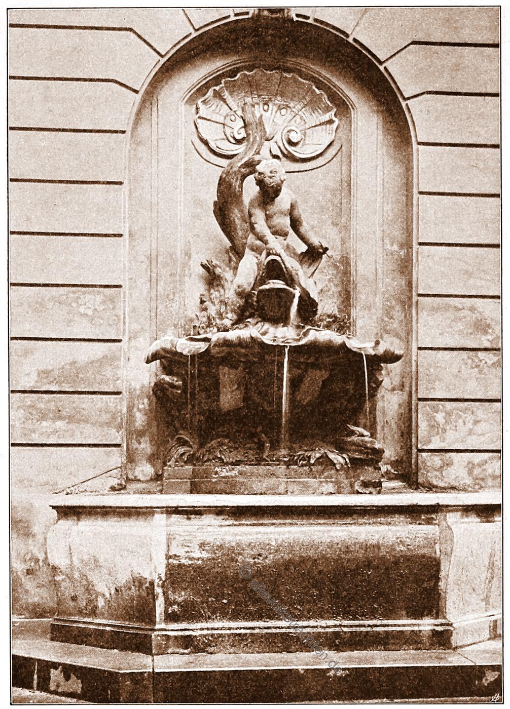 Wandbrunnen , Akademiegebäude, Wien, Brunnen, Österreich, Architektur, Hartwig Fischel,