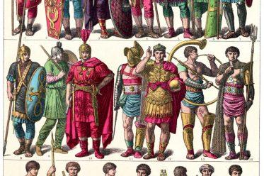 Friedrich Hottenroth, Weströmisches Reich, Kostüme, Gewandung, Krieger, Gladiatoren, Konsuln, Hofbeamte