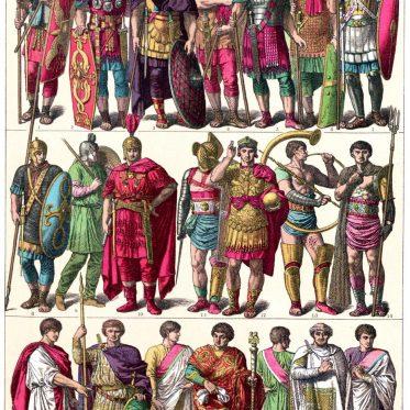 Weströmisches Reich. Krieger, Gladiatoren, Konsuln und Hofbeamte.
