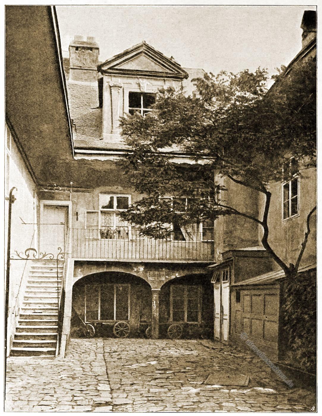 Wien, Amerling, Geburtshaus, Stiftgasse, Architektur, Österreich, Stadtansicht, Hartwig, Fischel, Wahrzeichen, Sehenswürdigkeit,