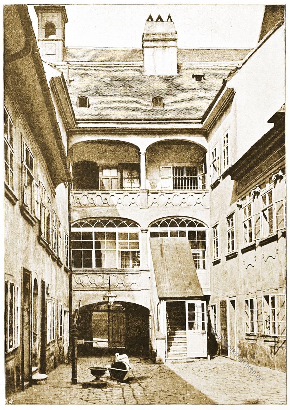 Wien, Hof, Ulrichsplatz, Architektur, Österreich, Stadtansicht, Hartwig, Fischel, Wahrzeichen, Sehenswürdigkeit,
