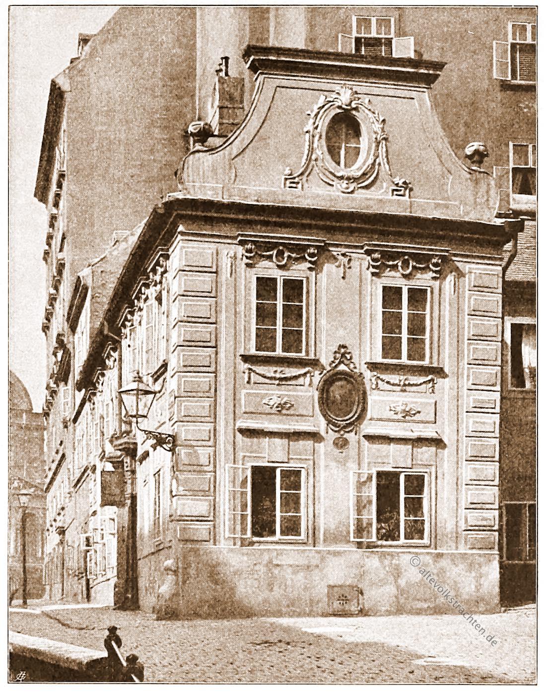 Wien, Wohnhaus, Mölkerbastei, Architektur, Österreich, Stadtansicht, Hartwig, Fischel, Wahrzeichen, Sehenswürdigkeit