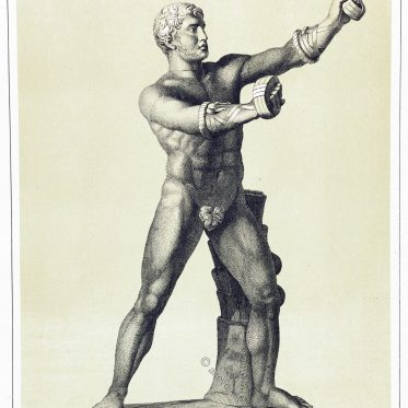 Cestus Kämpfer. Der griechische Faustkampf. Das Pankration.
